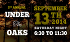 Under the Oaks Event Announcement