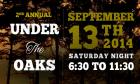 Under the Oaks Event Announcement